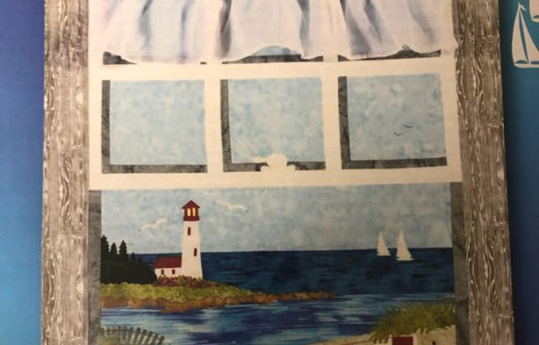 Sewing by the Sea, Dockside, Over East, Tea by the Sea, and Seagull Point patterns