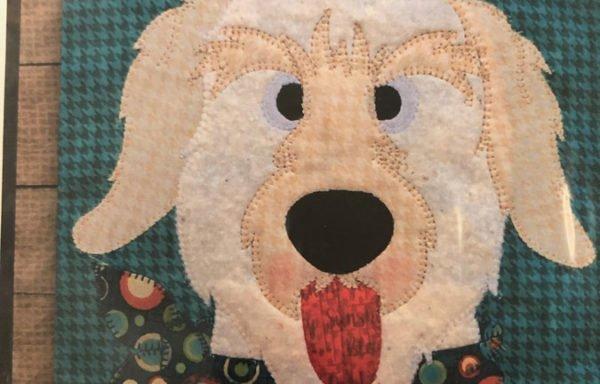 Doodle Dog Pattern (fused appliqué)