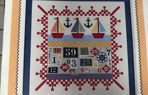 Three Boats Pattern & Panel