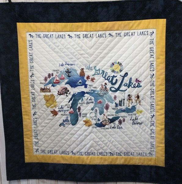 Great Lakes Panel by Kathy