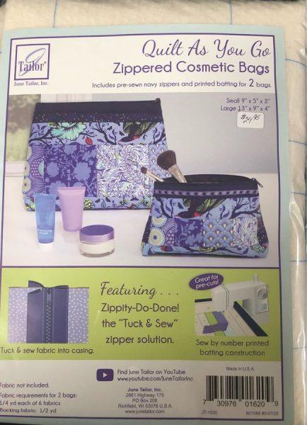 Quilt as you Go Zipper Bags